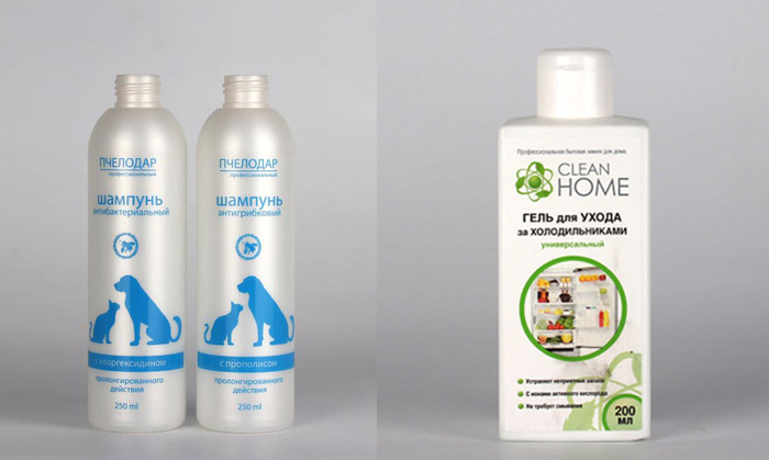 Packaging for non-standard products - cosmetics for animals and household chemistry